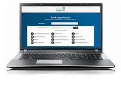 Laptop met website staphorst.socialkaartnederland.nl